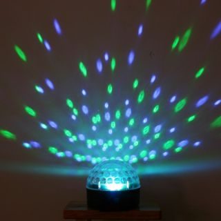 Disco DJ Stage Lighting Voice Activated LED RGB Crystal Magic Ball