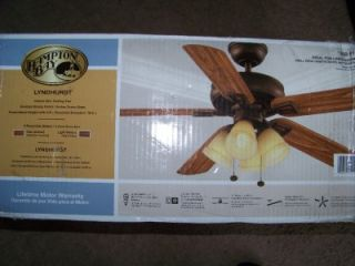 hampton bay lyndhurst 52 venetian bronze ceiling fan
