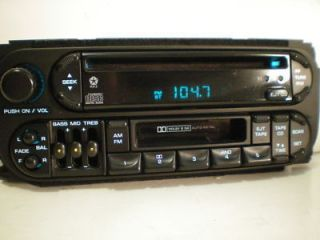 01 Dodge Grand Caravan Chrysler Town Country CD Cassette Player Radio