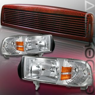 94 01 Dodge RAM 1500 2500 3500 Grille Headlight St SLT