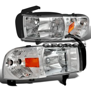 1994 2001 DODGE RAM 1500 LED HEADLIGHTS 1997 1998 1999 CHROME