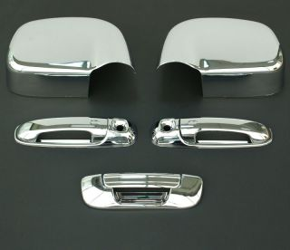 2002 2008 Dodge RAM 3D Chrome Door Handle Mirror Tailgate