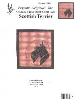 Pegasus Scottish Terrier Dog Cross Stitch
