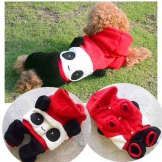 All Sizes Fleece Cute Panda Dog Costumes Hoodies Coats Dog Clothes Pet