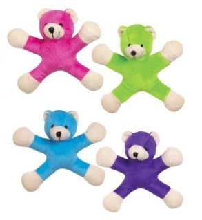 PC Set Grriggles 5 Teddy Jacks Plush Small Dog Toys 4 Pack Lot