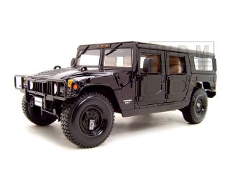 HUMMER H1 WAGON BLACK DIECAST MODEL CAR 118 BY MAISTO 36858
