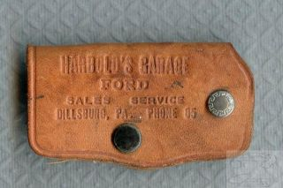 Vintage Leather Key Fob Harolds Garage Ford Dillsburg PA