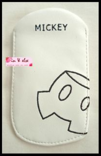 White MICKEY MOUSE Pant Disney Mobile Cell Phone Case Pouch Cover