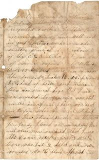 1862 Fort Donelson Tennessee Civil War Letter John D Kirby 4th