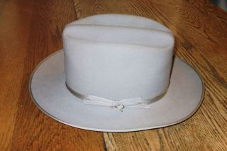 Vintage Gray Fawn Mens Stetson Open Road Cowboy Hat 3X Beaver Size in