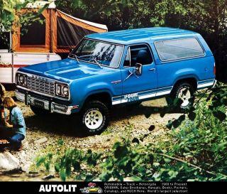 1978 Dodge Ramcharger Truck Factory Photo