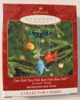 Hallmark Ornament Dr Seuss One Fish Two Fish Red Fish Blue
