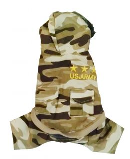 Tan Camo Army Green pet dog clothes APPAREL Chihuahua L Size