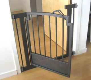 32 H Indoor Dog Gate Safety Pet Fence Metal 34 40 W