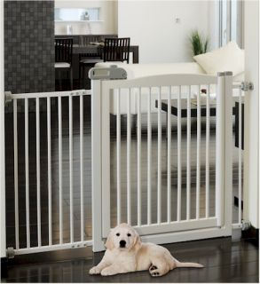 Extra Wide Dog Kids Tension Mount Gate Fence 2 Colors