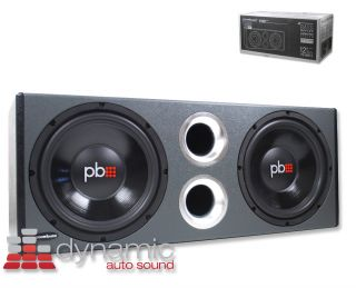 PS WB12 LOADED SUBWOOFER ENCLOSURE w/ DUAL 12 SUBS AND VENTED DESIGN