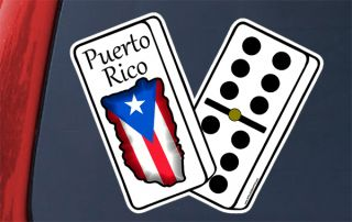 Dominoes with Puerto Rico Flag Sticker Decal Rican Dominos Domino