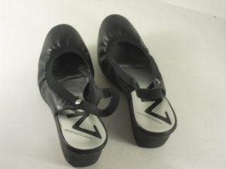anne klein duncan black leather wedge shoes 7 5 m