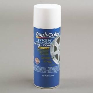 Dupli Color Paint Wheel Acrylic Enamel Gloss White 12 oz. Aerosol Ea