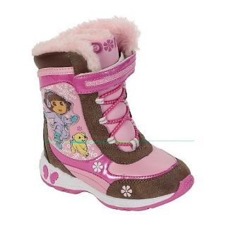 Dora The Explorer Girls Waterproof Insulated Snow Boots Toddlers Size