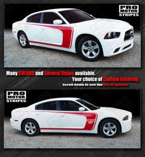 Dodge Charger Side Scallop Bumblebee C Stripes 2011 2012 2013 Decals