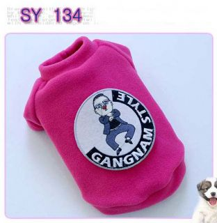 Dog Clothes Cat Dress Costume Pet Apperal Gangnam Style KPOP Psy Oppa