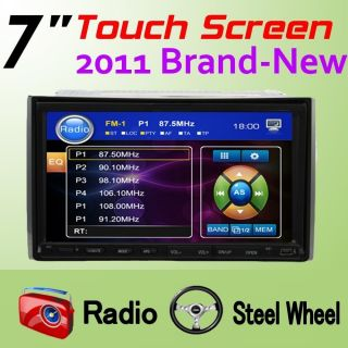 Screen Double 2 DIN Deck Car DVD Player Radio Stereo System