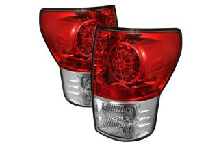 LED Tail Lights Pair Red Truck Rear Brake Stop Light Spyder
