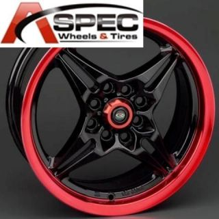 Rota Auto x 16x7 4x100 114 3 E40 Black Red Wheel Rims