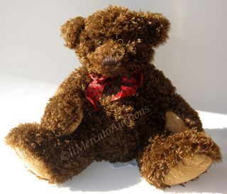 Russ Berrie Porter Plush Bombay Teddy Bear Toy Brown