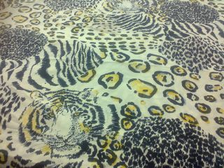 1pc Deep Pocket Soft Fitted Sheet Animal Cheetah Leopard Print