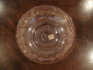 Vintage Imperial Lenox Ice Pink Carnival Glass Bowl