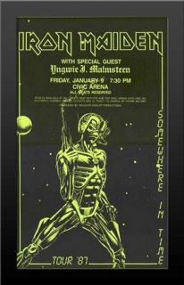 Limited Iron Maiden 1987 Concert Nicely Framed Poster Print Very