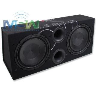 AUDIO® VBD12 DUAL 4 OHM PORTED SUB ENCLOSURE LOADED w/ 12 SUBWOOFER