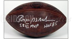 ROGER STAUBACH COWBOYS AUTOGRAPHED DUKE GAME FOOTBALL w/SB VI MVP