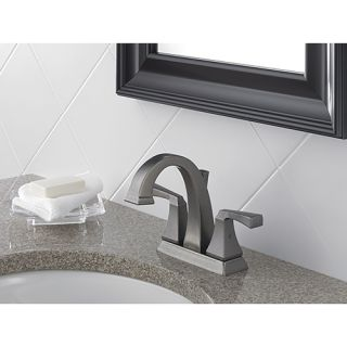 Delta Dryden 2551LF PT Two Handle Centerset Bathroom Sink Faucet, Aged