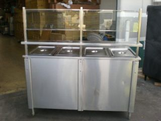 wells all stainless h d electric steam table hot food serving new ss