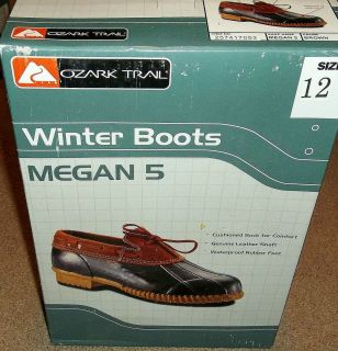 NEW Womens OZARK TRAIL Winter SNOW BOOTS ~ Waterproof ~ LEATHER ~ NIB