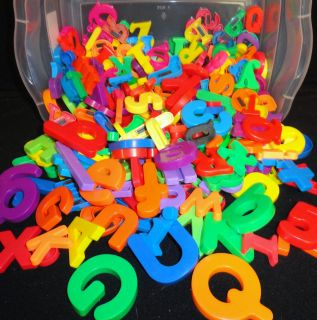 Huge Lot of MAGNETIC LETTERS & Numbers ~Varies Sizes & Colors~