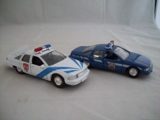 Welly Chevy Caprice City Police Toy Car Set of 2 Look