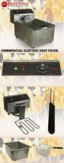 Fryer Electric 2500 Watt Commercial Unit Restaurant Frying Deep Fryer