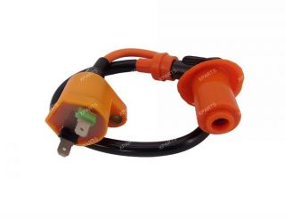 High tension performance racing ignition coil for 50cc QMB139 and