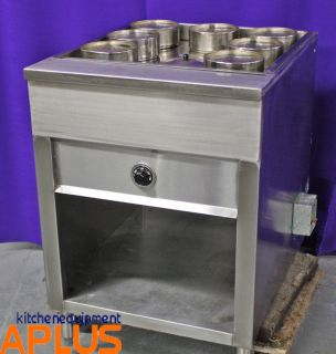 Electric Steam Table 220V 24 Wide Stainless Steel Model