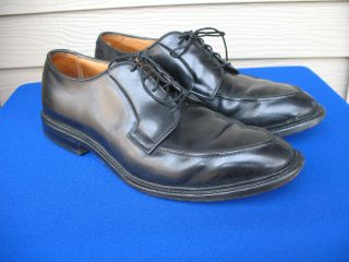 Allen Edmonds Seneca Black Split Toe Dress Blucher Oxford Shoes 8 5 D