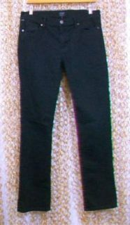 Humanity Black Medium Rise Straight Leg Elson Jeans $168 Sz 30