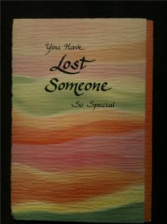 Blue Mountain Art Card  Sympathy Loss Someone Special Hand Made
