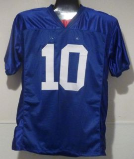 Eli Manning Autographed Signed New York Giants Blue Size XL Jersey w