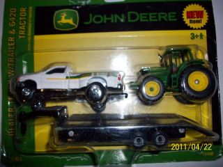 Ertl 1 64 Farm Toy John Deere Ford Truck Pickup Trailer