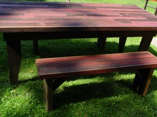 Repurposed Country Barn Wood Farm Farmers Farmhouse Table dining bench