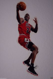 Michael Jordan Chicago Bulls FATHEAD Style NBA Official Wall Graphic